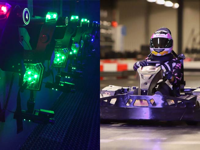Teenparty Go karting & Lasergame